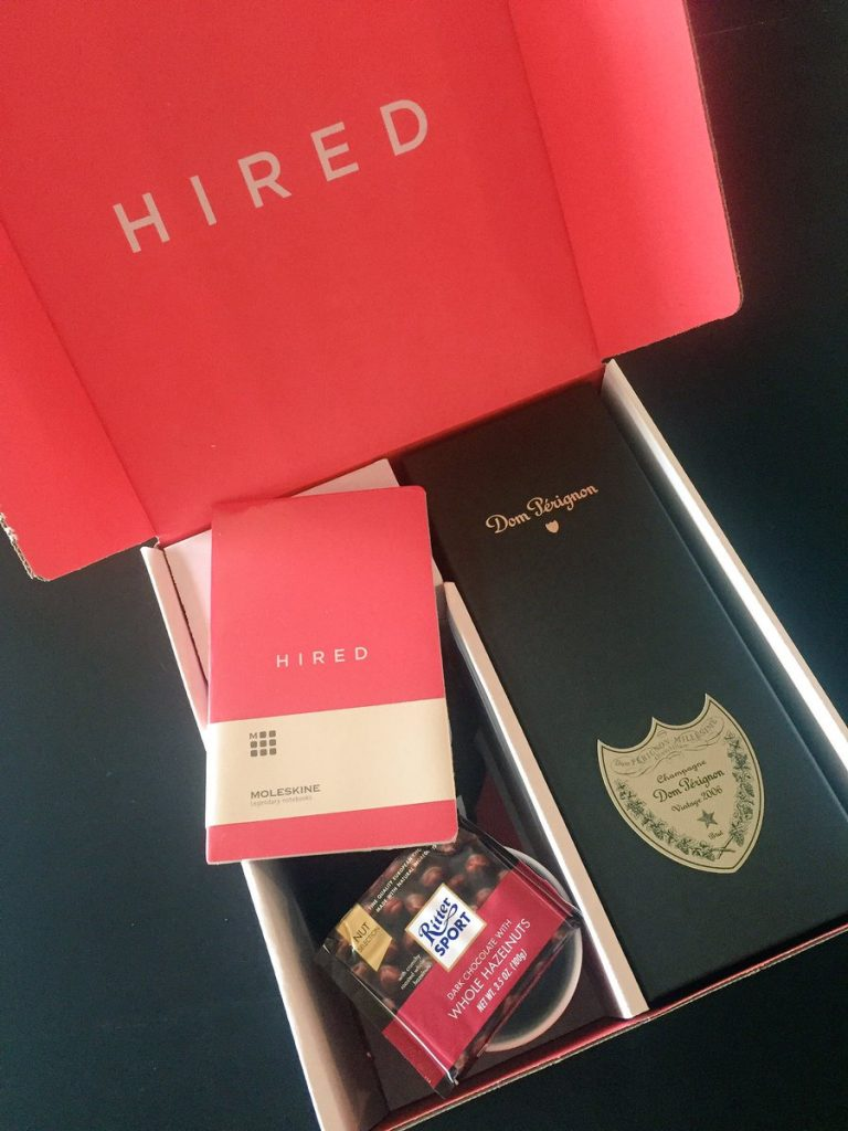 HIRED gift box