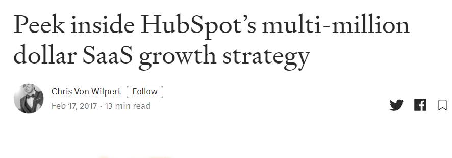 SaaS marketing Hubspot case study