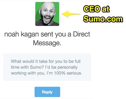 Noah kagan reach out message