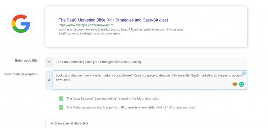 google search saas marketing bible