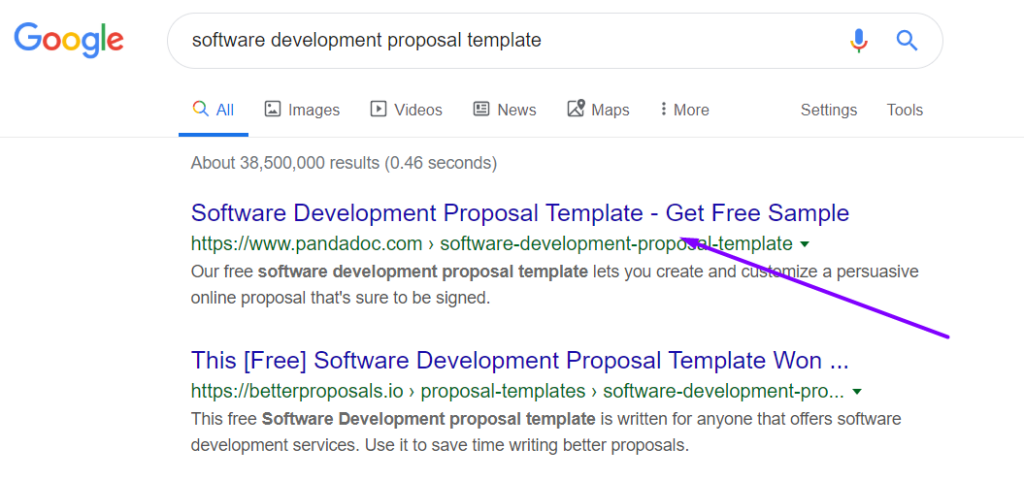 software development proposal template google search results