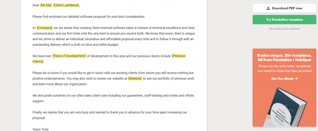 software development proposal template letter