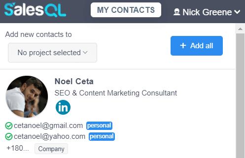 SalesQL email