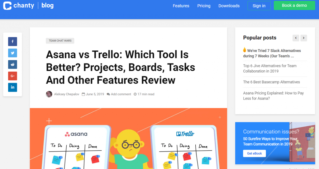 asana vs trello blog post