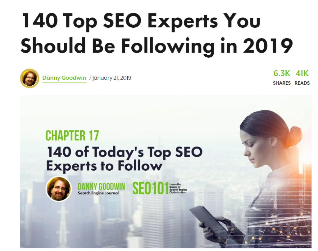 seo experts screenshot