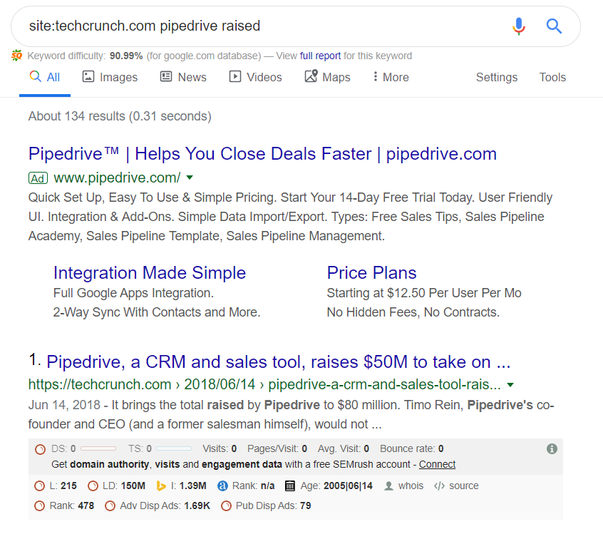 pipedrive news search